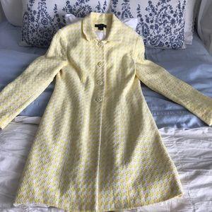 Beautiful yellow houndstooth coat
